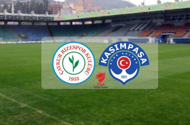 Çaykur Rizespor Kasımpaşa maçı ne zaman, saat kaçta, hangi kanalda? Ziraat Türkiye Kupası B Grubu