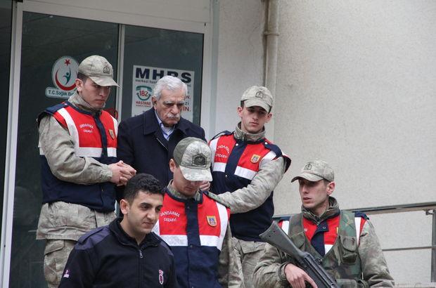 Ahmet Türk, sağlık raporu için hastaneye götürüldü