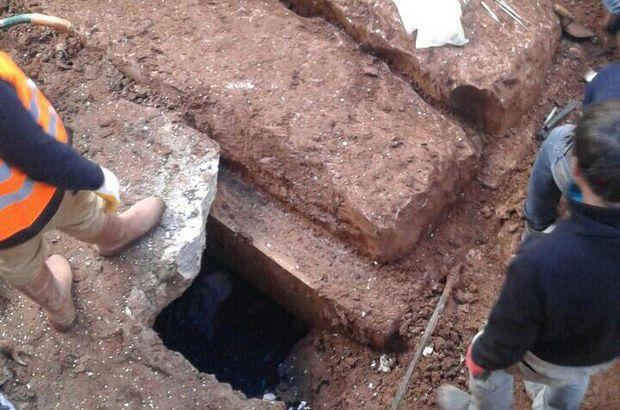 Muğla'da inşaatta mezar kalıntıları bulundu