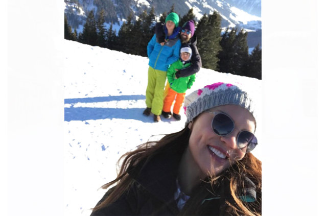 Ebru Şallı eski eşiyle tatilde