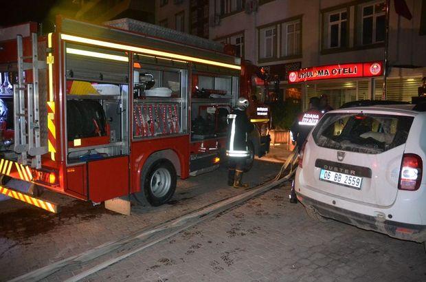 Adana'da uygulama otelinde yangın çıktı