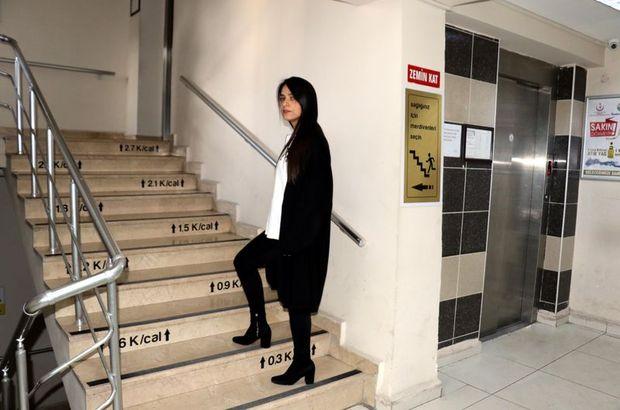 Merdivenlerin basamaklarına harcanan kalori yazıldı!