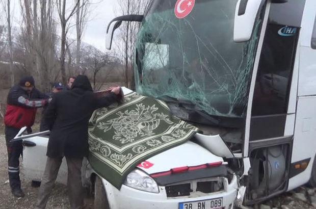 Tokat'ta yolcu otobüsü ile otomobil çarpıştı: 3 ölü, 5 yaralı