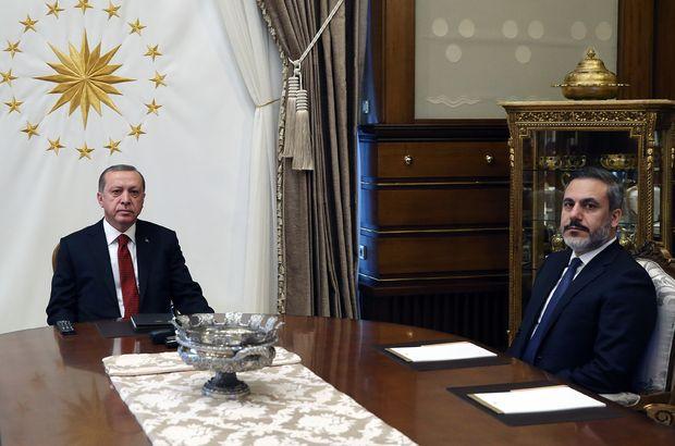 Erdoğan, Fidan'ı kabul etti