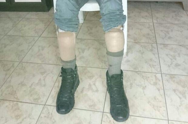 Varis çorabında eroin saklayan şahıs yakalandı