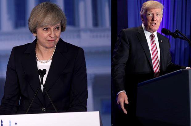 İngiltere Başbakanı May'den Theresa May'den Donald Trump'a Rusya uyarısı
