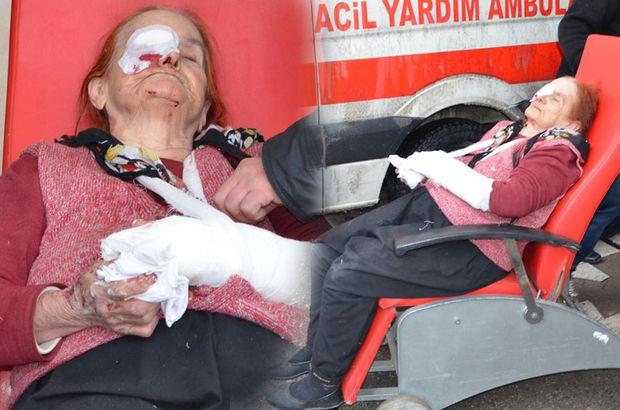 Konya'da yaşlı kadın komşuları tarafından dövüldü