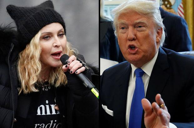Trump'tan Madonna'ya: İğrenç biri