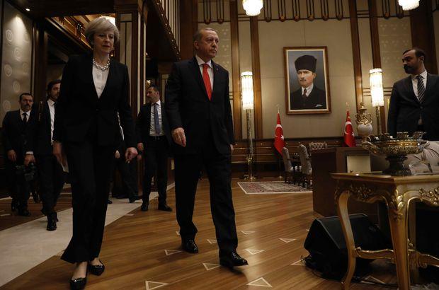 Erdoğan ve May ortak açıklama yapıyor