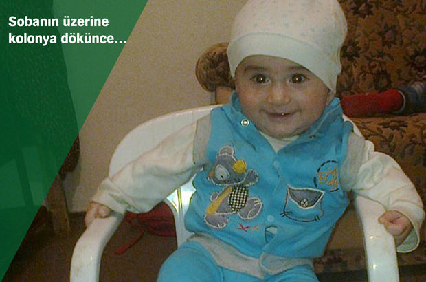Sivas'ta sobanın üzerine kolonya döken çocuk yaşamını yitirdi
