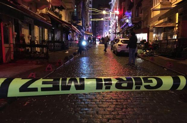 Beyoğlu'nda silahlı kavga : 1'i polis 4 yaralı