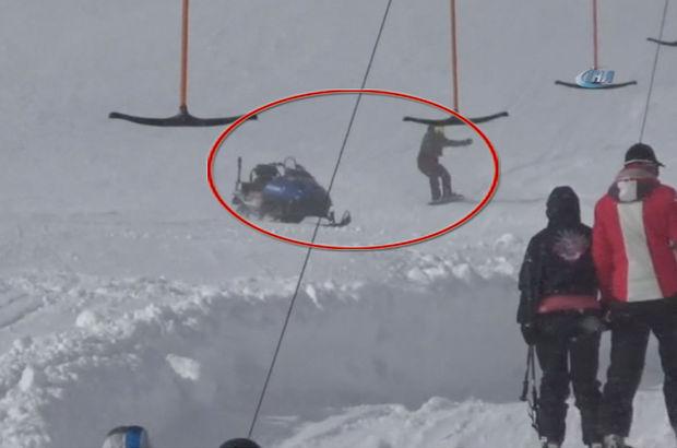 Uludağ'da kar motoru faciası son anda önlendi!