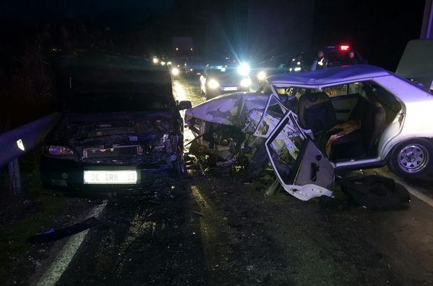 İzmir'de trafik kazası: 1 ölü, 9 yaralı