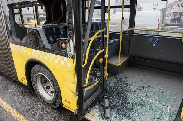 SON DAKİKA METROBÜS KAZASI! Okmeydanı durağı yakınında metrobüs ile yol yardım aracı çarpıştı