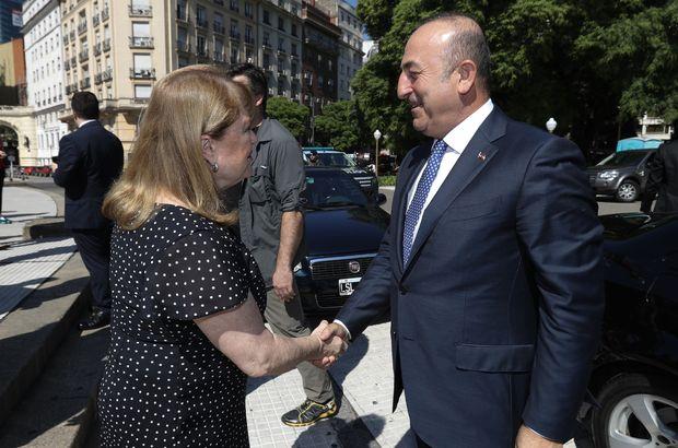 Dışişleri Bakanı Çavuşoğlu Arjantinli mevkidaşı ile görüştü