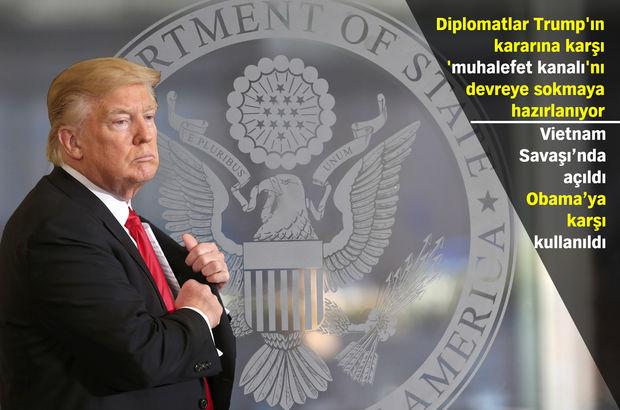 ABD Dışişleri Bakanlığı diplomatları Trump'ın mülteci kararına karşı not hazırlıyor