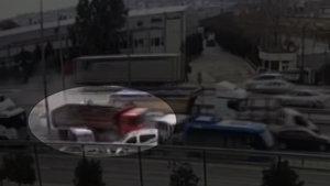 Gebze'deki kamyon dehşeti kamerada!