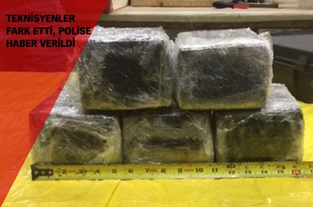 Amerika'ya giden uçağın burun kısmında kokain bulundu
