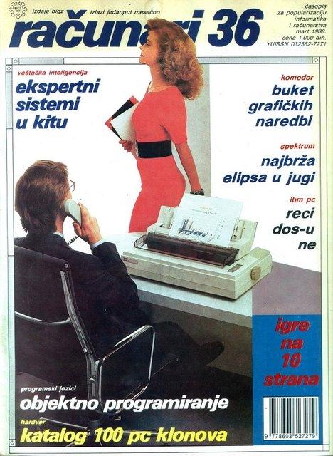 Yugoslavya'da bilgisayar dergisinde bu kapaklar kullanılmış