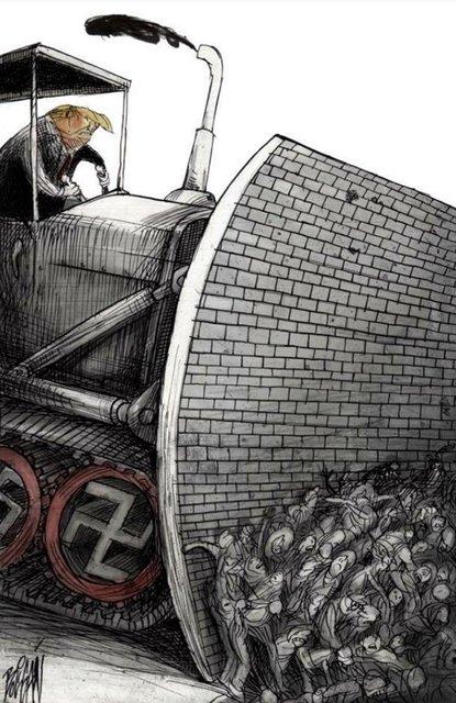 Tek karede Trump zulmü!