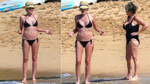 Sharon Stone tatilde