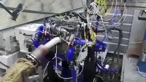 İlk yerli İHA motorunun çalışması böyle görüntülendi