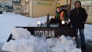 """""""Kotaran""""la kar küremek daha kolay"""