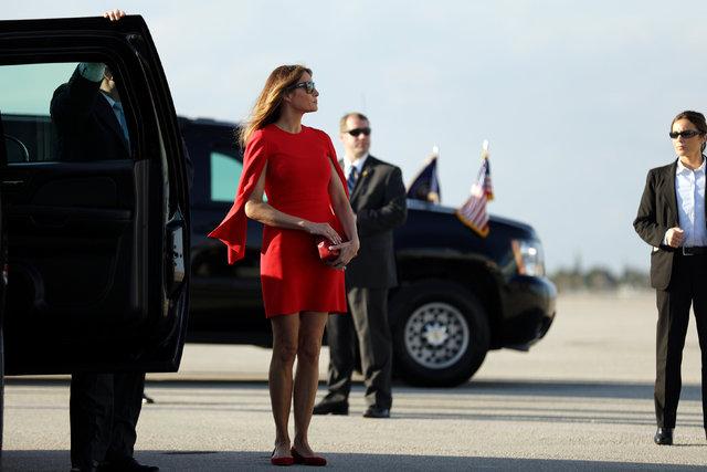 First Lady iki hafta sonra ortaya çıktı