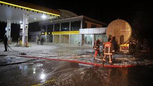 Ankara'da  benzin istasyonunda korkutan yangın