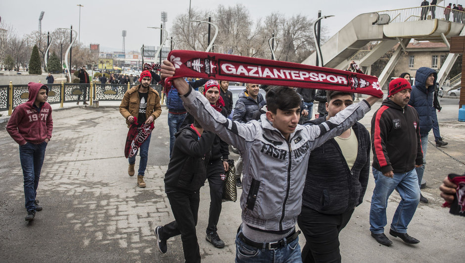 Gaziantepspor taraftar protesto