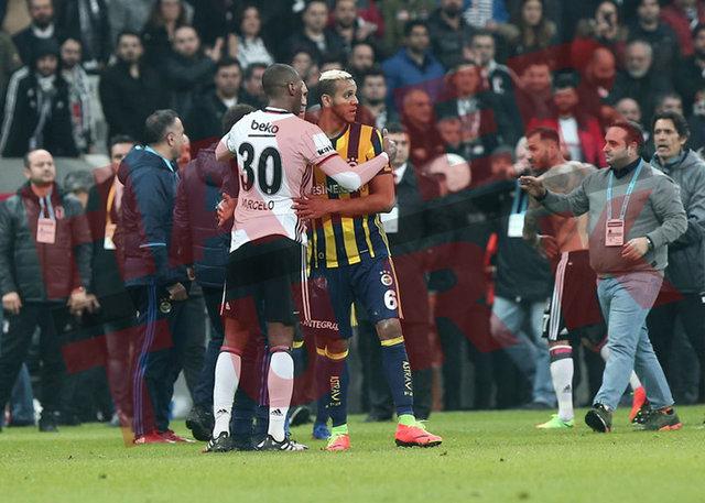 Olaylı Beşiktaş - Fenerbahçe derbisinin en özel kareleri