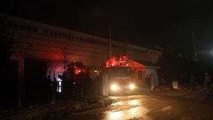 Düzce'de elyaf fabrikasında yangın