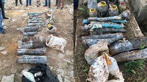 Nusaybin'de PKK'nın mezarlıktaki cephaneliği ele geçirildi