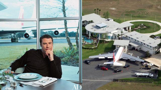 John Travolta'nın evi bir havaalanı