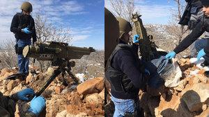 Nusaybin'de terör örgütü PKK'ya ait füze ateşleyicisi ele geçirildi