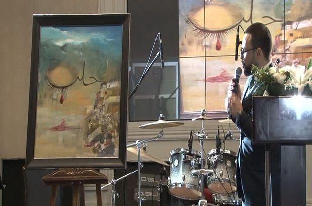 Mehmet Şimşek'in çizdiği resim 151 bin TL'ye satıldı