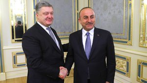 Dışişleri Bakanı Mevlüt Çavuşoğlu Ukrayna'da