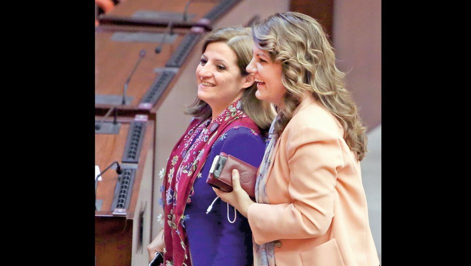 Denizli Milletvekili Melike Basmacı  Kocaeli Milletvekili Fatma Kaplan Hürriyet