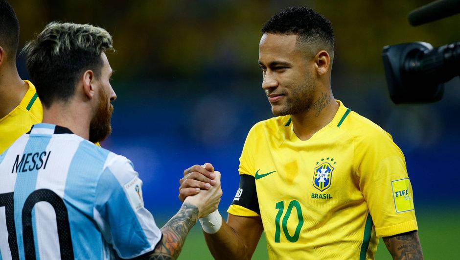 Messi Neymar Arjantin Brezilya