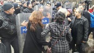 Ankara Üniversitesinde KHK protestosu