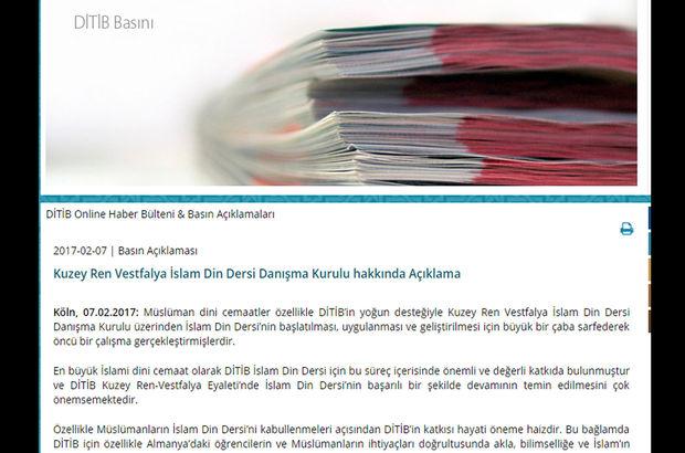DİTİB, İslam Din Dersi Danışma Kurulu üyeliğini askıya aldı