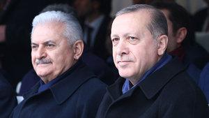 Erdoğan ve Yıldırım'dan Aksaray Belediyesi'ne ziyaret
