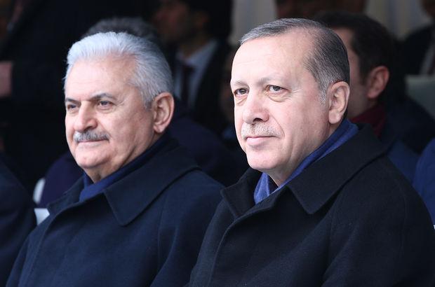 Erdoğan ve Yıldırım'dan Aksaray Belediyesine ziyaret