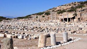 Knidos Antik Kenti'nde kaçak kazıya 3 gözaltı