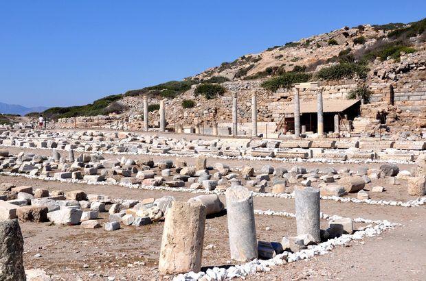 Antik kentte kaçak kazıya 3 gözaltı