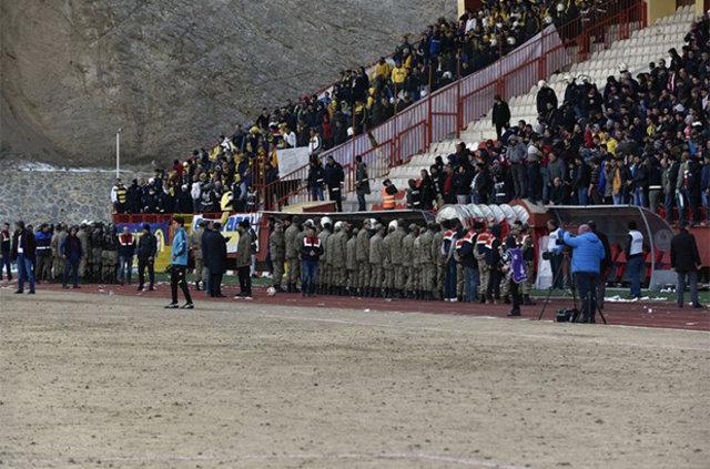 Gümüşhanespor-Ankaragücü maçında olay