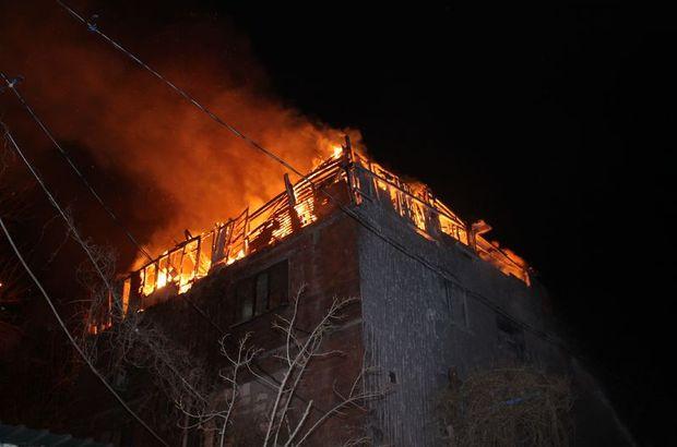 Şişli'de korkutan çatı yangını
