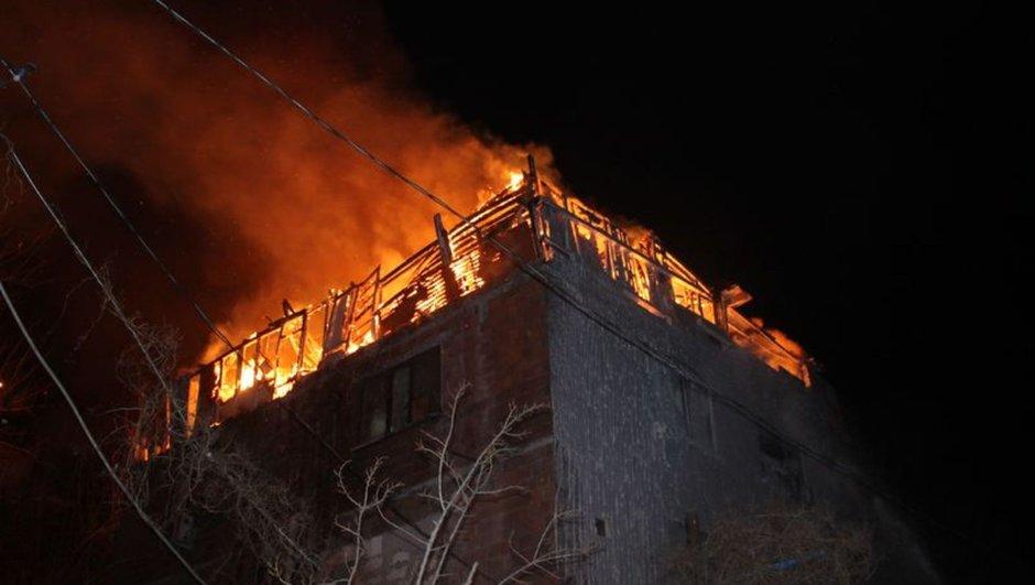 Şişli İstanbul çatı yangın