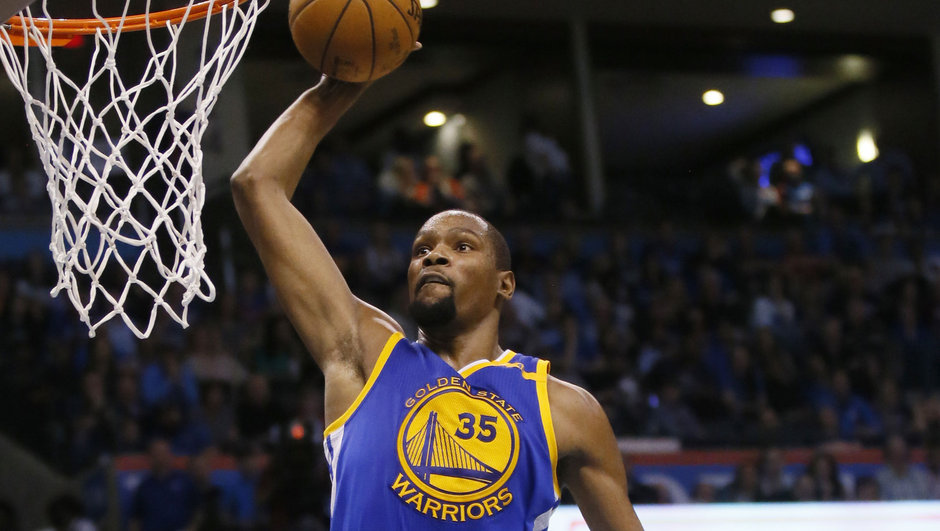 Kevin Durant Golden State Warriors Oklahoma City Thunder