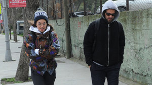 Bensu Soral ikizi Bedirhan'la birlikte spor yaptı